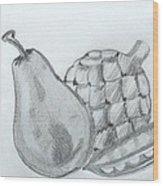 Pear Artichoke Snap Pea Wood Print