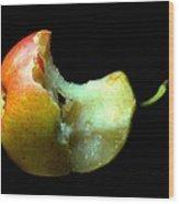 Bartlett Pear Bite Wood Print