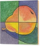 Pear II Wood Print