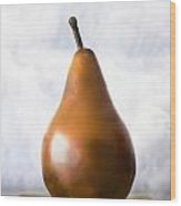 Pear In The Clouds Wood Print
