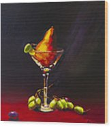 Pear Martini Wood Print