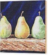 Pear Pear And A Pear Wood Print