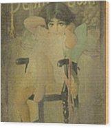 Pear Soap Girl Wood Print