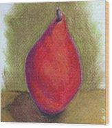 Pear Study 3 Wood Print