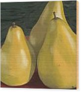 Pear Trio 1  Wood Print