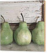 Pear Trio Wood Print