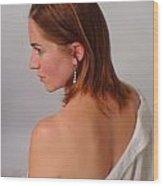 Pearl Earring Wood Print