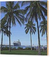 Pearl Harbor Hawaii Wood Print