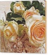 Pearl Roses Wood Print