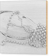 Pearls And Old Glass Abstract Wood Print