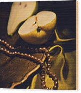 Pearls And Pears Wood Print