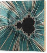 Pearly Mandelbrot Wood Print