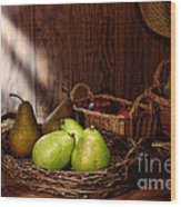 Pears At The Old Farm Market Wood Print