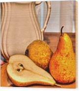 Pears Wood Print