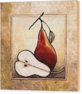 Pears Diptych Part Two Wood Print