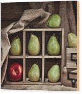 Pears On Display Still Life Wood Print