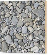 Pebble Background Wood Print