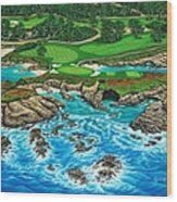 Pebble Beach 15th Hole-north Wood Print