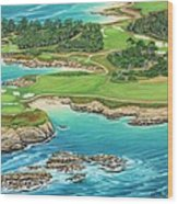 Pebble Beach 15th Hole-south Wood Print