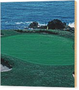 Pebble Beach Golf Course 8th Green Wood Print