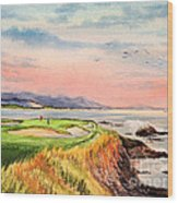 Pebble Beach Golf Course Hole 7 Wood Print by Bill Holkham