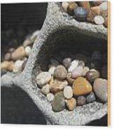 Pebble Beach Mankala Wood Print