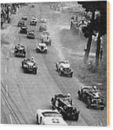Pebble Beach California Sports Car Races Auto Road Race April 11 1954 Wood Print