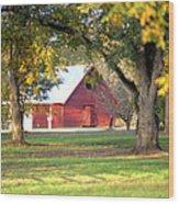 Pecan Orchard Barn Wood Print