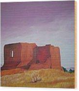 Pecos Mission Landscape Wood Print