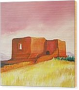 Pecos Mission Nm Wood Print