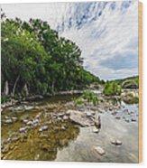 Pedernales River - Downstream Wood Print