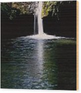Pedernales Twin Falls-vpan Wood Print