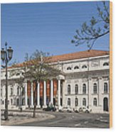 Pedro Iv Square Best Known As Rossio Square Wood Print