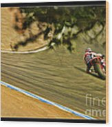 Pedrosa Though The Trees Wood Print