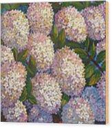 Peegee Hydrangeas Wood Print