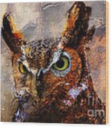 Peeking Owl Wood Print