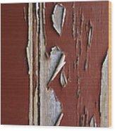 Peeling Paint Wood Print by Carlos Caetano