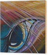 Peeping Eye Wood Print