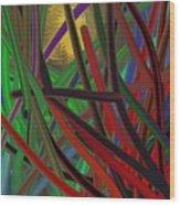 Peering Through Wood Print