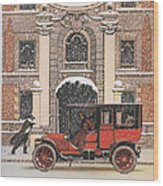 Peerless 1910s Usa Cars Winter Snow Wood Print