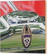 Peerless Radiator Emblem Wood Print