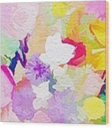 Pefect Birthday Flowers Wood Print