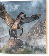 Pegasus Wood Print by Daniel Eskridge