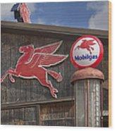 Pegasus And Mobilgas Wood Print