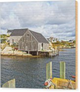 Peggy's Cove 6 Wood Print
