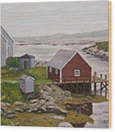 Peggy's Cove Wood Print