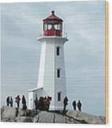 Peggy's Cove Light House Wood Print