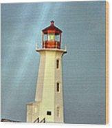 Peggy's Cove Lighthouse 2 Wood Print