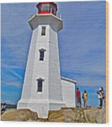 Peggy's Cove Lighthouse Closeup-ns Wood Print