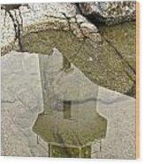Peggys Cove Reflection Wood Print